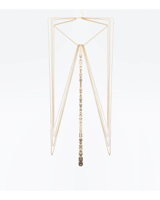 New Look | Metallic Gold Chainmail Body Chain | Lyst
