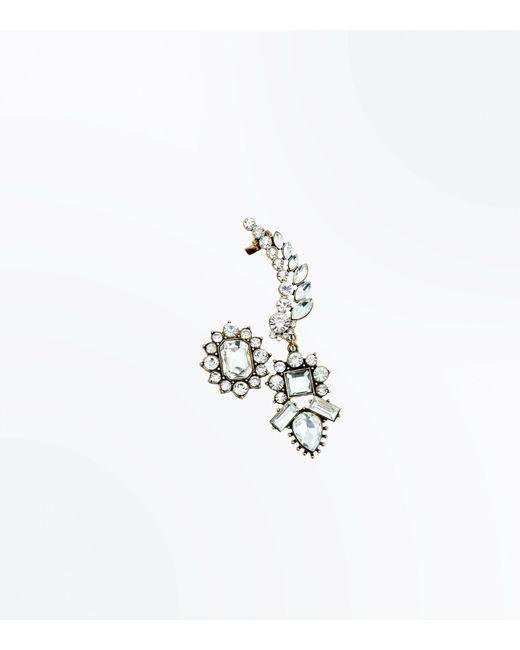 New Look | Metallic Gold Vintage Crystal Earcuff | Lyst