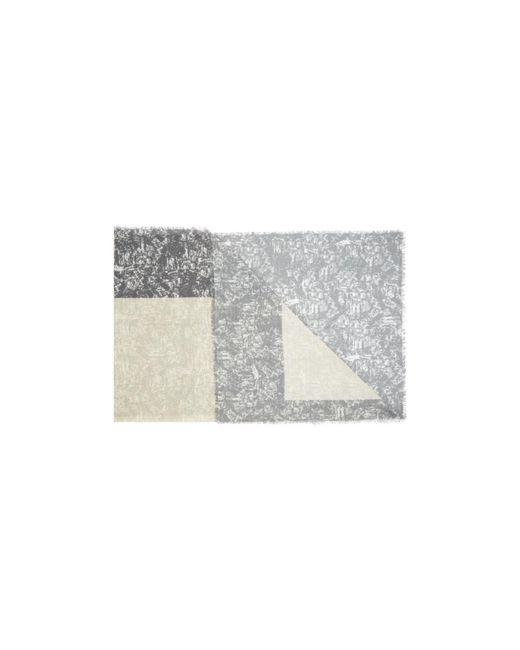 Nicole Farhi | Gray The Tweed Block Scarf | Lyst