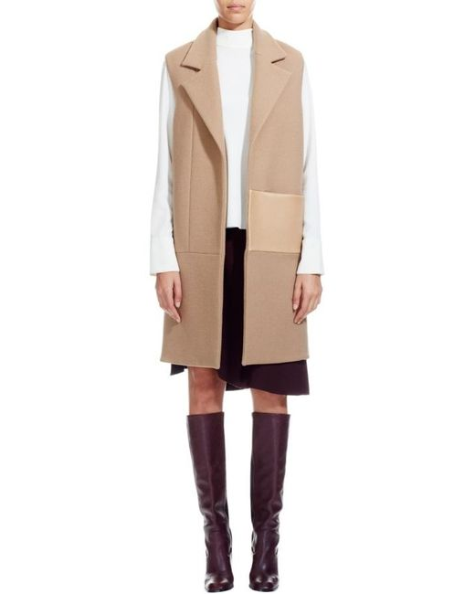 Nicole Farhi | Natural The Melton Gilet | Lyst