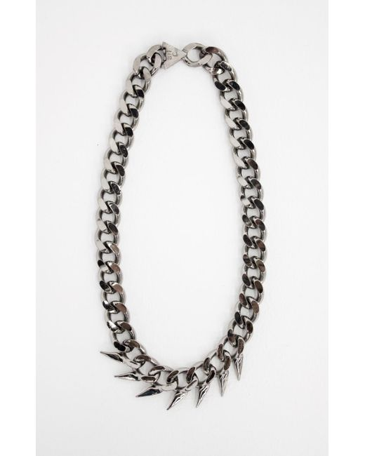 Nicole Miller | Metallic Fin Collar Necklace | Lyst