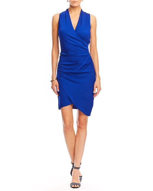 Nicole Miller | Blue Stefanie Crepe Dress | Lyst