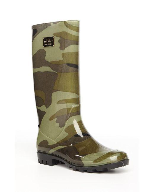 Nicole Miller | Green Rainy Day Boot | Lyst