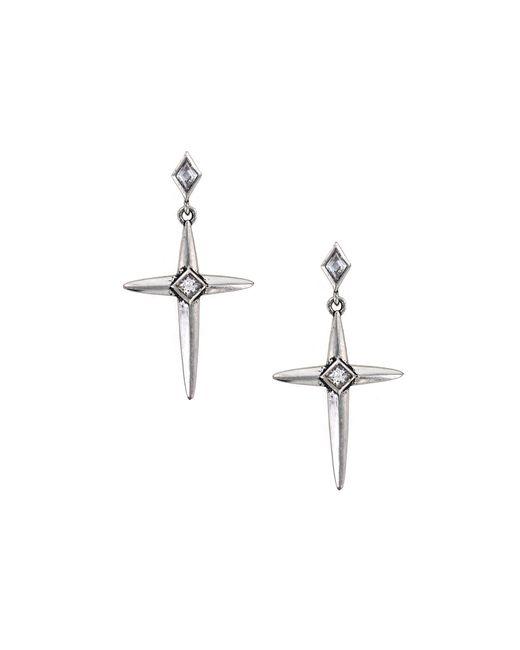 Nicole Miller | Metallic Spike Cross Earrings | Lyst