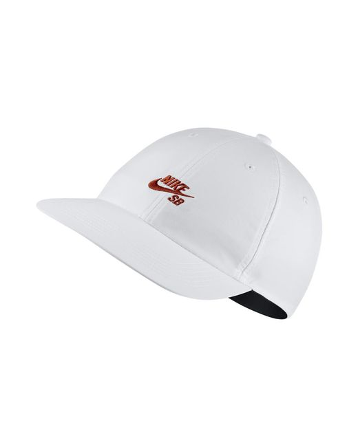 2511156d3e832 Nike - Sb Heritage86 Adjustable Hat (white) - Clearance Sale for Men - Lyst