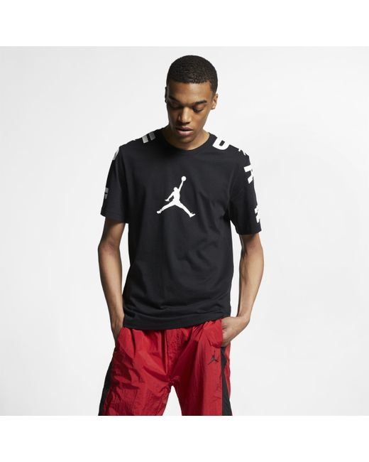 60e33bd8 Nike Jordan Stretch 23 T-shirt in Black for Men - Lyst