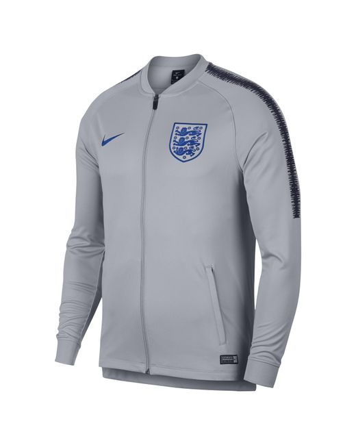 3091cf639 Nike England Dri-fit Squad Track Jacket in Gray for Men - Save 15 ...