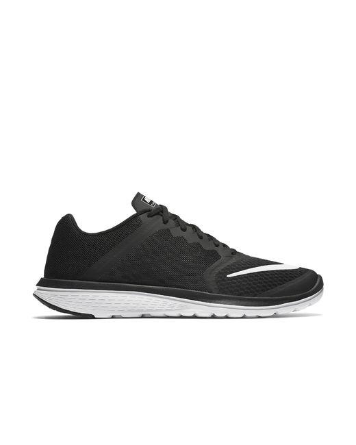 nike fs lite run 3 s running shoe in black for lyst