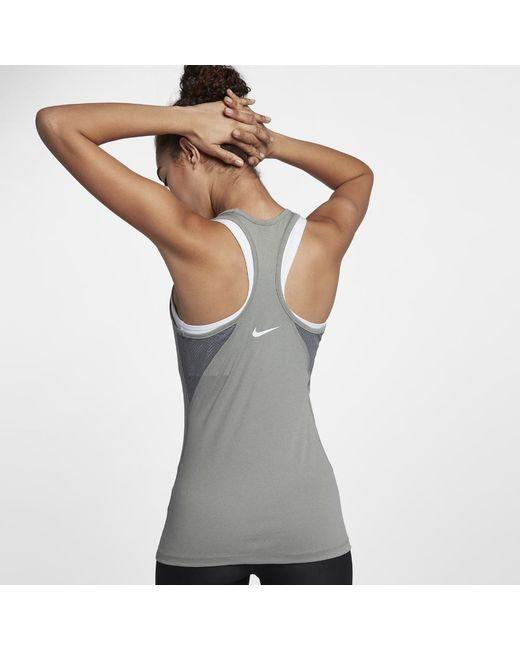 dd1be843542 Lyst - Nike Dri-fit Women's Training Tank Top in Gray