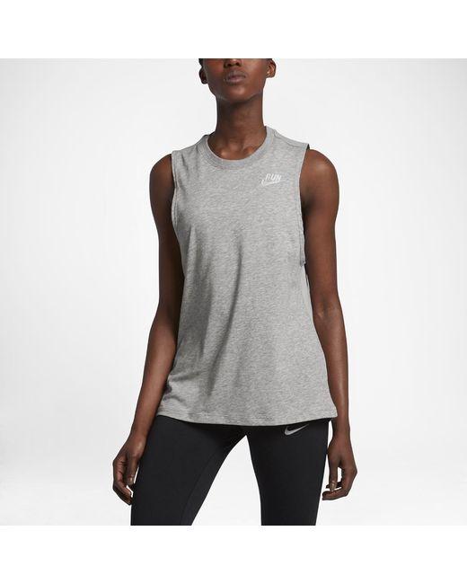 Nike | Gray Dry Women's Running Tank | Lyst