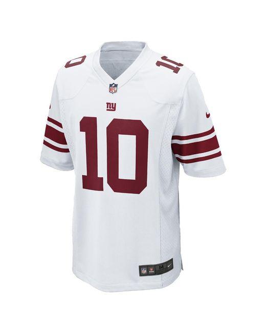 Nike - White Nfl New York Giants (eli Manning) Men s Football Away Game  Jersey 223c31db2
