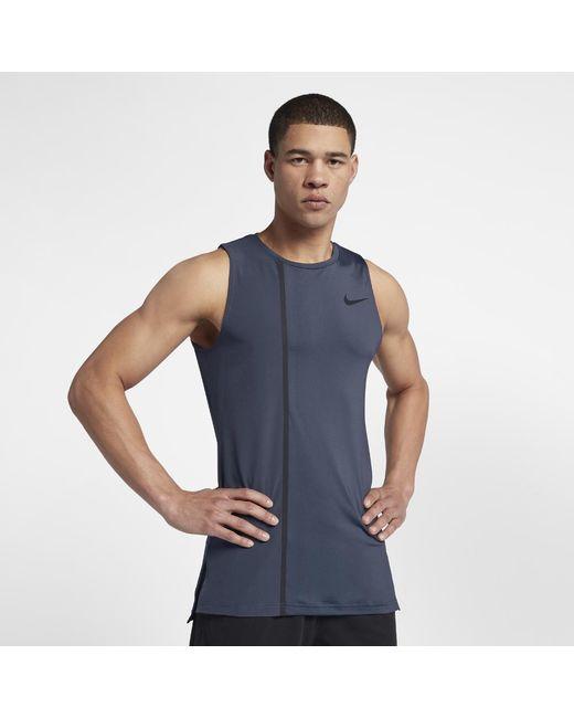 c6fd7f0f56b71 Lyst - Nike Pro Fitted Men s Training Tank in Blue for Men