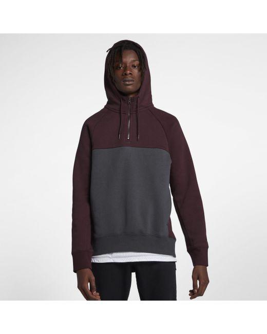 96425706 Nike Sb Icon 1/2-zip Skateboarding Hoodie in Black for Men - Lyst