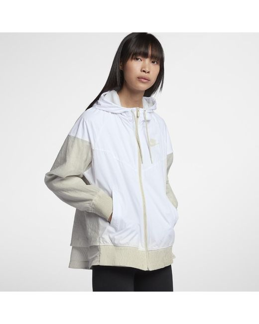 cf24c183a4 Lyst - Nike Sportswear Windrunner Women s Jacket in White