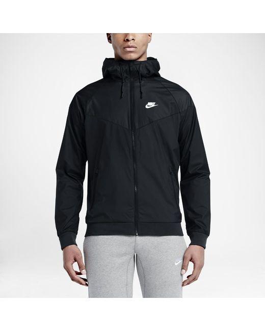 Lyst - Nike Sportswear Windrunner Men s Jacket in Black for Men b5c1365f5