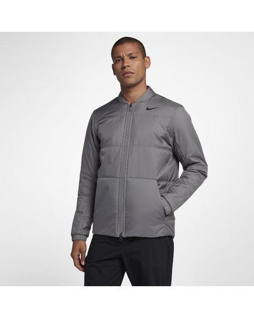 Lyst - Nike Men s Synthetic Fill Golf Jacket in Black for Men 34ecc3587