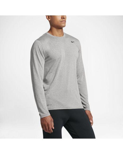 72f15e59f3d6e2 Nike Dri-fit Legend 2.0 Long-sleeve Training Top in Gray for Men - Lyst