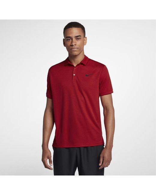 aae1f07c9cda Lyst - Nike Court Dri-fit Men s Tennis Polo Shirt in Red for Men
