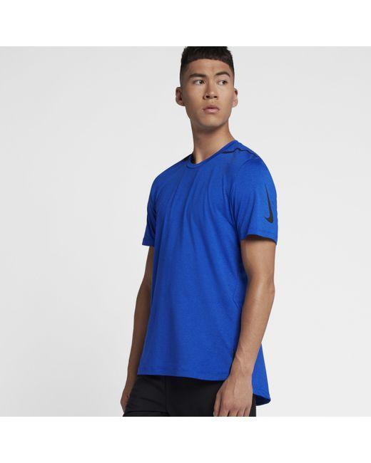 e94982e1b Nike - Blue Dri-fit Premium Short-sleeve Training Top for Men - Lyst ...