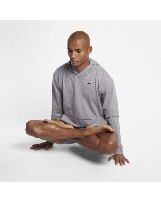 Nike - Gray Dri-FIT langärmeliger Yoga-Trainings-Hoodie für Herren for Men - Lyst