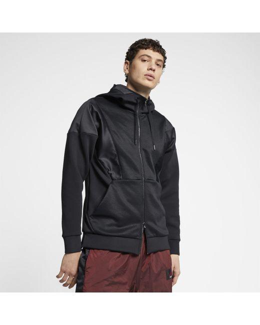 2dcb3c06779aea Nike Jordan 23e Flight Tech Lite Full-zip Hoodie in Black for Men - Lyst
