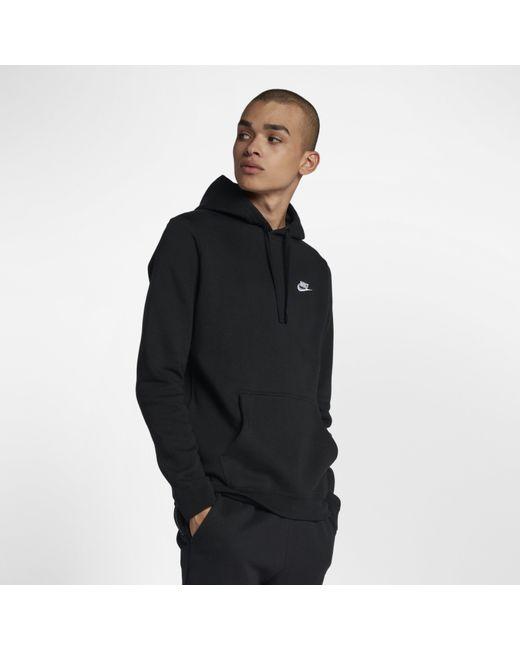 31afc0f3e473 Nike - Black Sportswear Pullover Hoodie for Men - Lyst ...