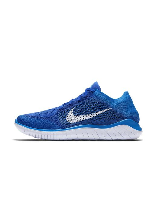 045e13f0758cc Lyst - Nike Free Rn Flyknit 2018 Men s Running Shoe in Blue for Men ...