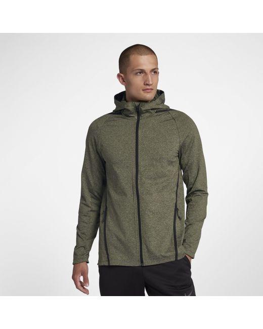 06fc8146fc4c Nike Dri-fit Long-sleeve Full-zip Training Hoodie in Green for Men ...