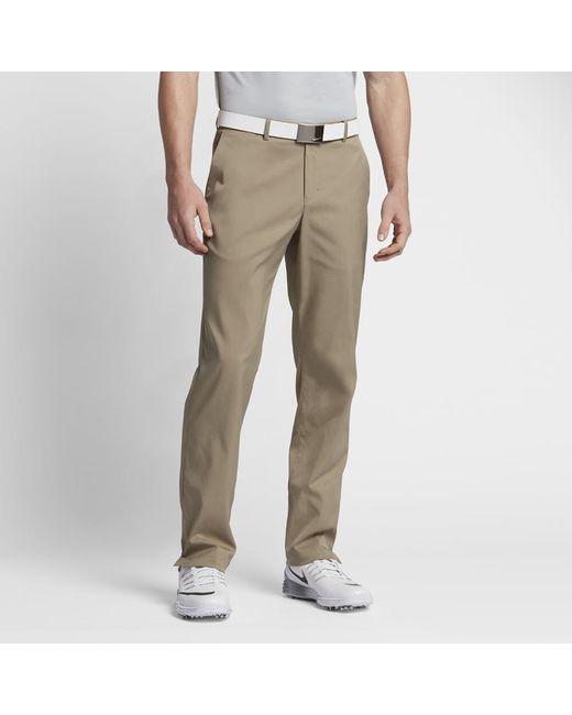 Nike | Natural Flat Front Men's Golf Pants for Men | Lyst