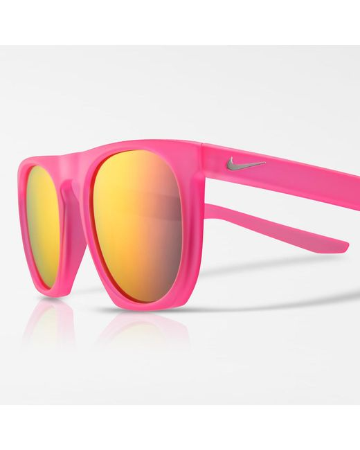 Nike - Sb Be True Flatspot Mirrored Sunglasses (pink) - Lyst