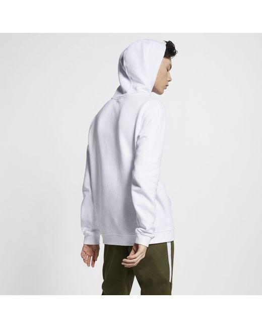 b004266f1 ... Nike - White Sportswear Club Fleece Pullover Hoodie for Men - Lyst ...