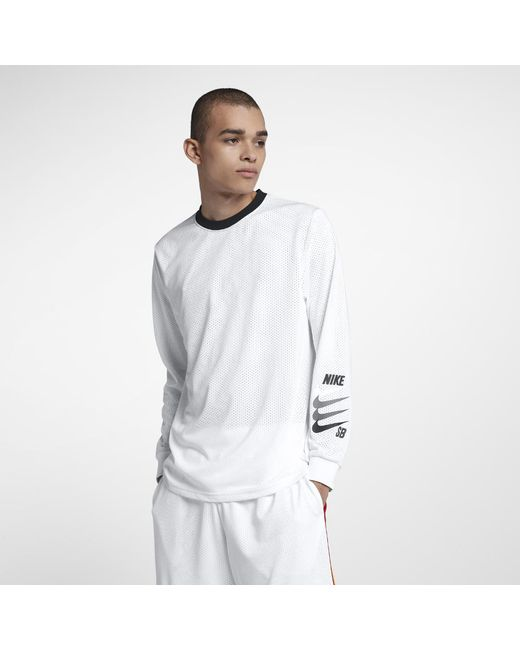 492b7a74beac Lyst - Nike Sb Dri-fit Men s Long Sleeve Top in White for Men