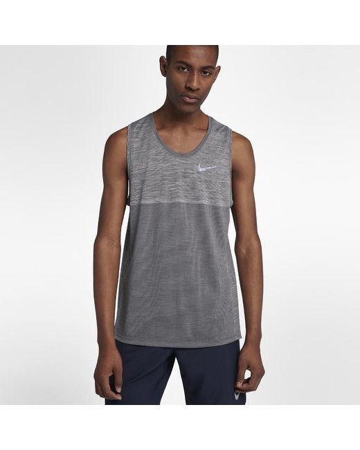 eaa6be0056ac99 Lyst - Nike Dri-fit Medalist Men s Running Tank in Gray for Men