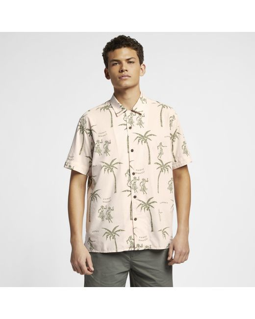 9e0a86da Nike Hurley Aloha Woven Top in Natural for Men - Lyst