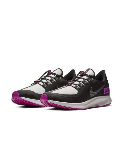 3604e0d096e0 ... Nike - Black Air Zoom Pegasus 35 Shield Nrg Water-repellent Running  Shoe for Men ...