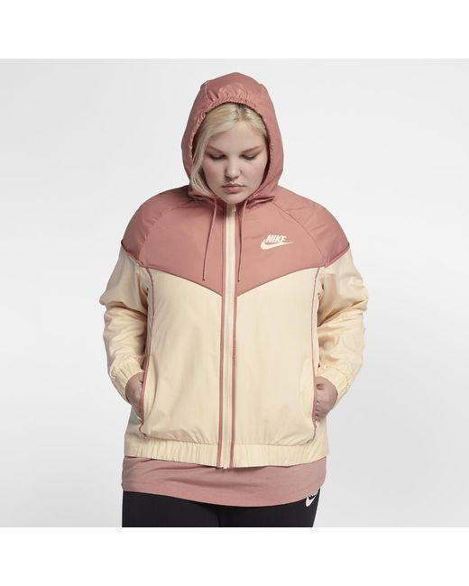 2359ec8323b1 Lyst - Nike Sportswear Windrunner (plus in Pink