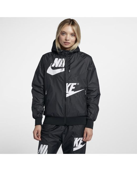 eabacf539799 Lyst - Nike Sportswear Windrunner Women s Jacket in Black