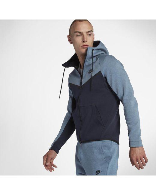 34e75721c192 Nike - Blue Sportswear Tech Fleece Windrunner Men s Full-zip Hoodie for Men  - Lyst