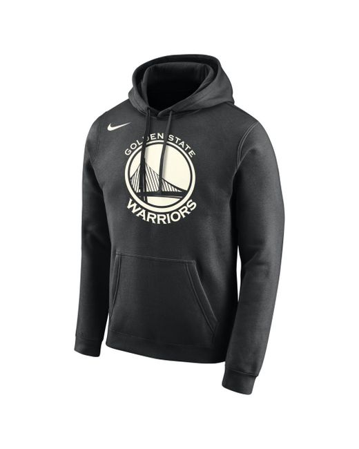 Nike Black Golden State Warriors Logo Nba Hoodie for men