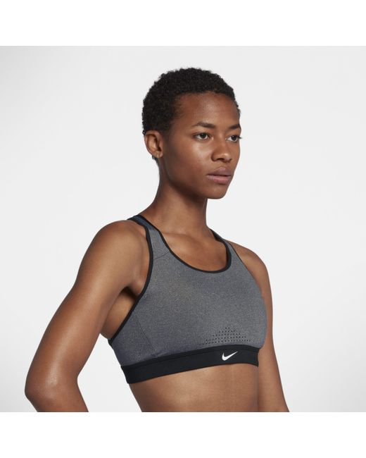 2e8efa23b47b9 Nike Impact Strappy High-support Sports Bra in Gray - Lyst