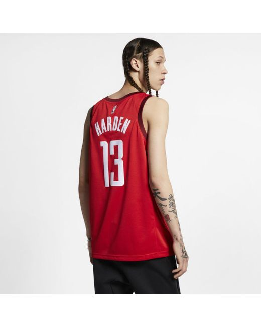 d850b969 ... Nike - Red James Harden Earned City Edition Swingman (houston Rockets) Nba  Connected Jersey