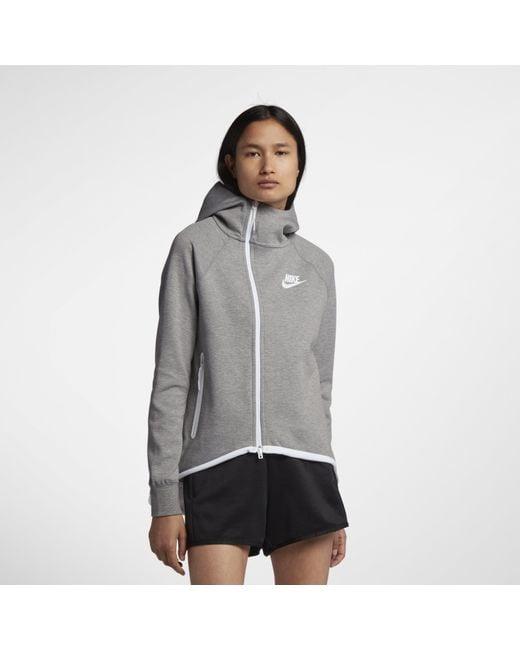 0a8de627322f Nike - Gray Sportswear Tech Fleece Full-zip Cape - Lyst ...