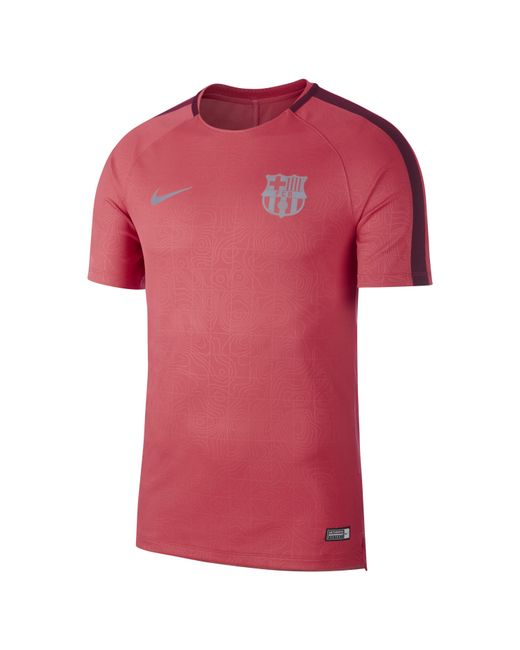 c0f88fceb Nike - Pink Fc Barcelona Dri-fit Squad Short-sleeve Football Top for Men ...