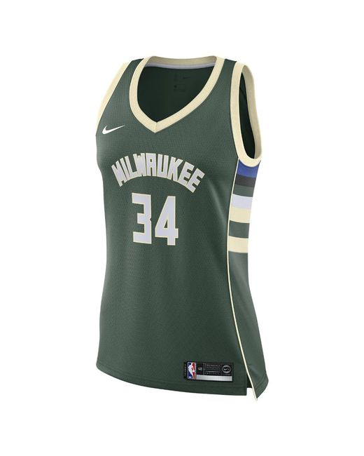640a226587f Nike - Green Giannis Antetokounmpo Icon Edition Authentic (milwaukee Bucks)  Nba Connected Jersey for