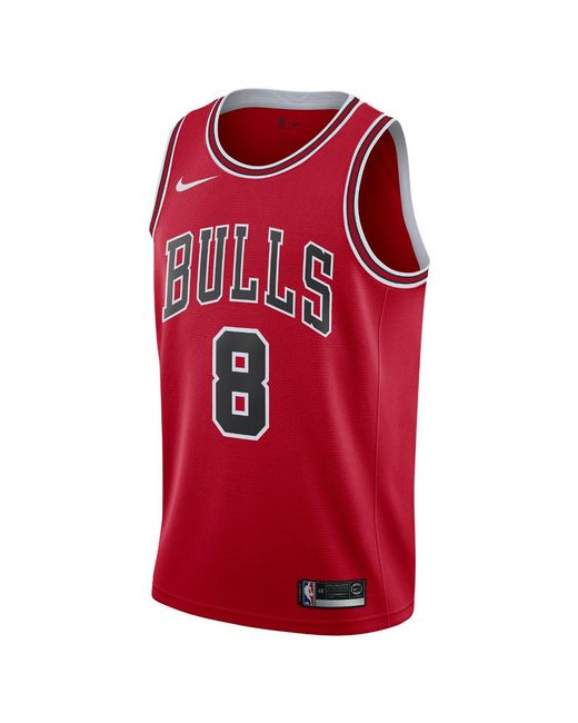 a2a9e9bba3c6 Nike - Red Zach Lavine Icon Edition Swingman Jersey (chicago Bulls) Men s  Nba Connected