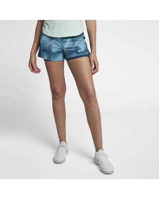 742e467f7e9a Lyst - Nike Court Flex Pure Women s Tennis Shorts in Blue