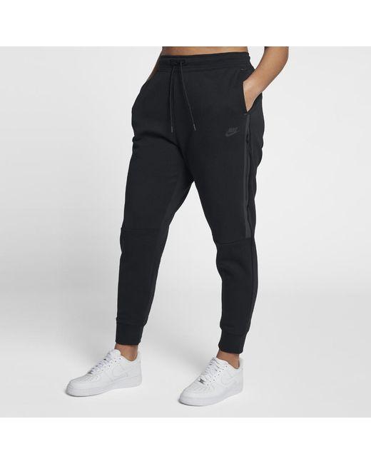 2520007bf3c4 Lyst - Nike Tech Fleece Women s Pants in Black