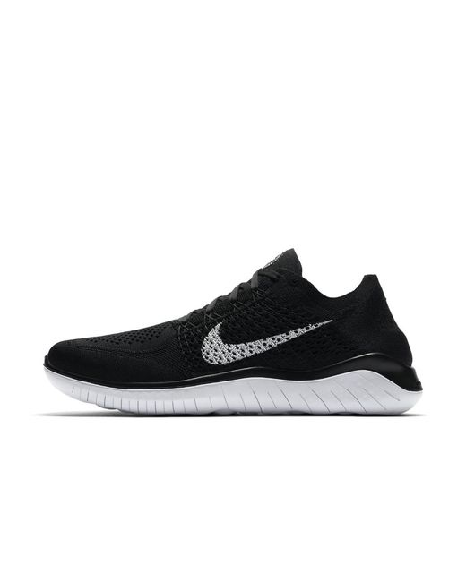 1bf640594d0 Lyst - Nike Free Rn Flyknit 2018 Men s Running Shoe in Black for Men ...