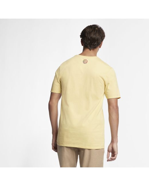 2f0b018d Nike Hurley Premium From The Soul T-shirt in Yellow for Men - Lyst