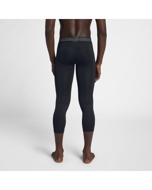 deb4583a99d92 ... Nike - Black Pro Hypercool Training Tights for Men - Lyst ...